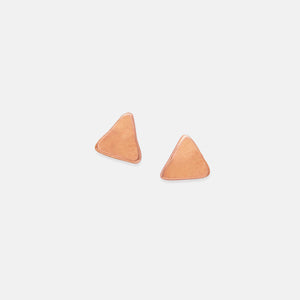 Triangle Studs, 19k Rose Gold