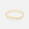 Ripple Bangle, 19k Gold