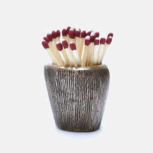 Basalt Matchstick Holder, Bronze