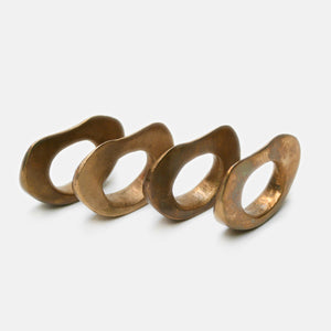 Strata Napkin Rings, Bronze - set of 4