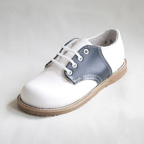 Kepner Scott White & Navy Saddle Oxford