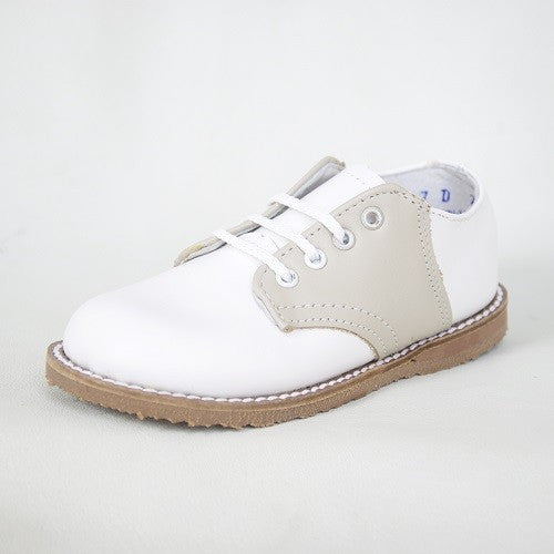 Kepner Scott White & Beige Saddle Oxford
