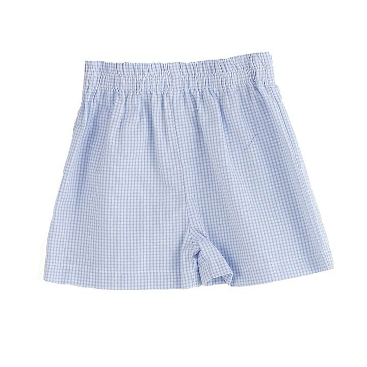 Funtasia Too! Blue Seersucker Check Shorts