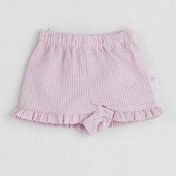 Funtasia Too! Pink Check Seersucker Ruffle Shorts