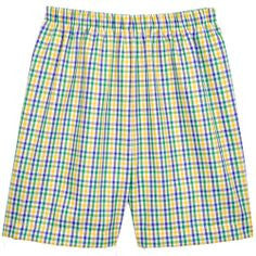 Mardi Gras Tri Color Checks Shorts