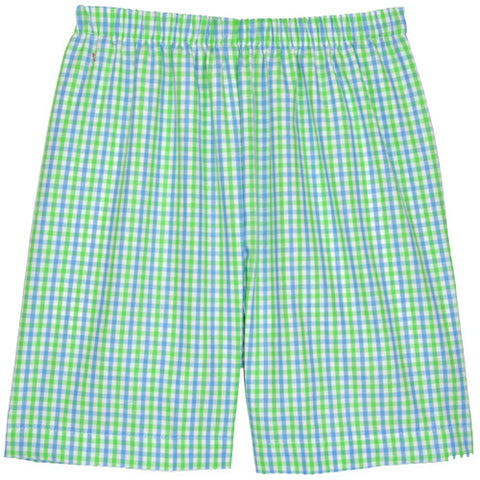 Blue/Lime Checks Shorts