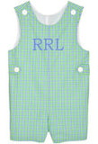 Blue/Lime Checks Boys Shortall