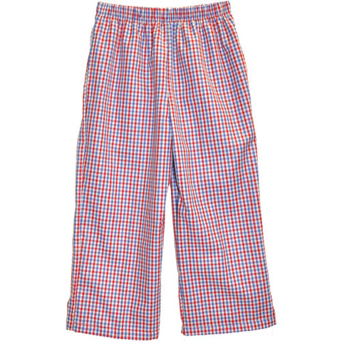 Blue/Red Tri Color Checks Pants