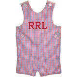 Blue/Red Tri-Color Checks Boys Shortall