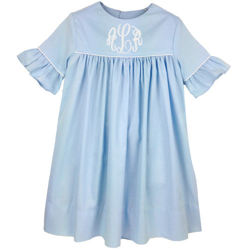 Blue Pique Kelley Dress