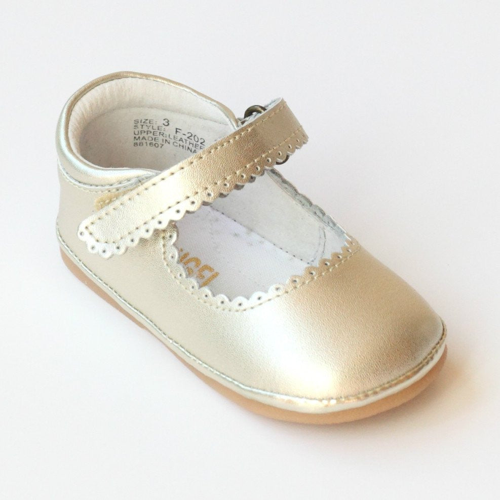 L'Amour Angel Baby Scalloped Mary Janes