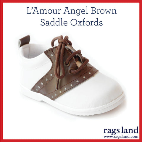 L' Amour Angel Brown Saddle Oxfords
