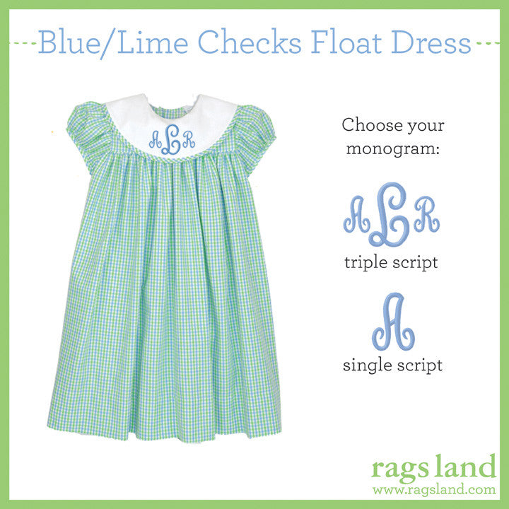 Blue/Lime Checks Float Dress