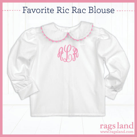 Pink Ric Rac Long Sleeve Blouse