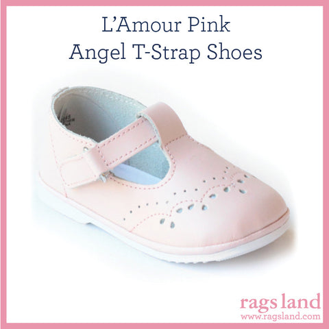L' Amour Angel lt Pink T-Strap Shoes