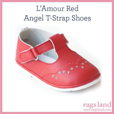 L' Amour Angel Red T-Strap Shoes