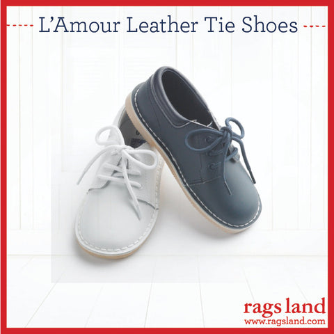 L'Amour Leather Tie Shoes