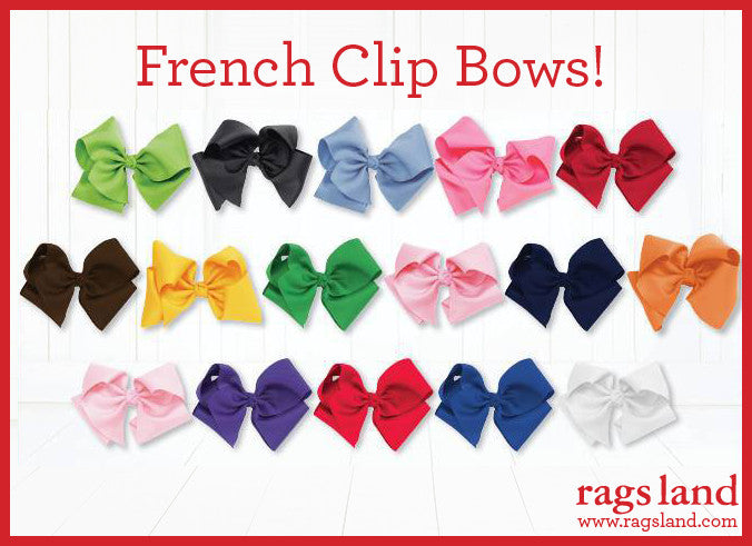 Rags Land French Clip Bows
