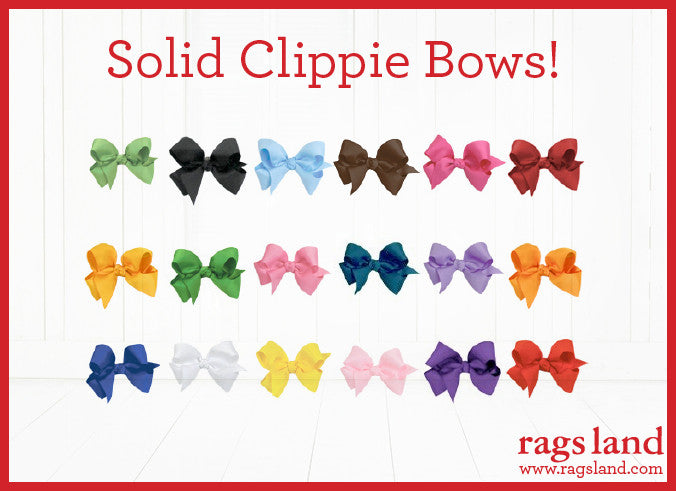 Rags Land Clippie Bows