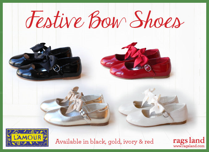 L'Amour Festive Bow Shoes