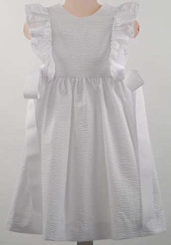 Funtasia Too!  White Seersucker Pinafore Dress