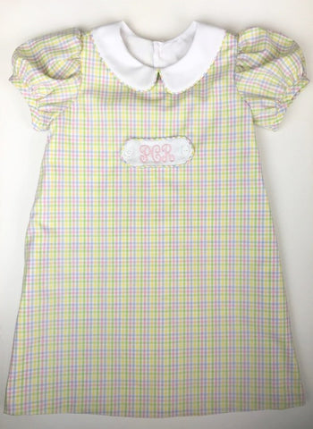 Pastel Checks Tab Dress