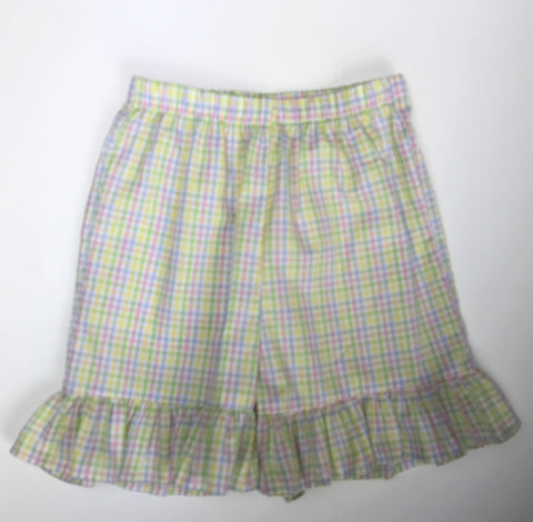 Pastel Checks Ruffle Shorts