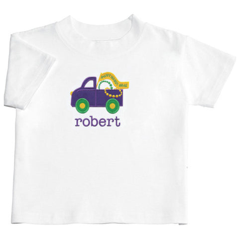 Applique Mardi Gras Boys Short Sleeve Tee