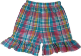 Madras Ruffle Shorts