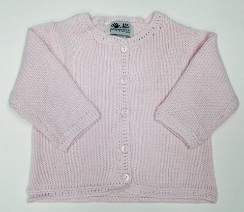Pink Crochet Edged Sweater