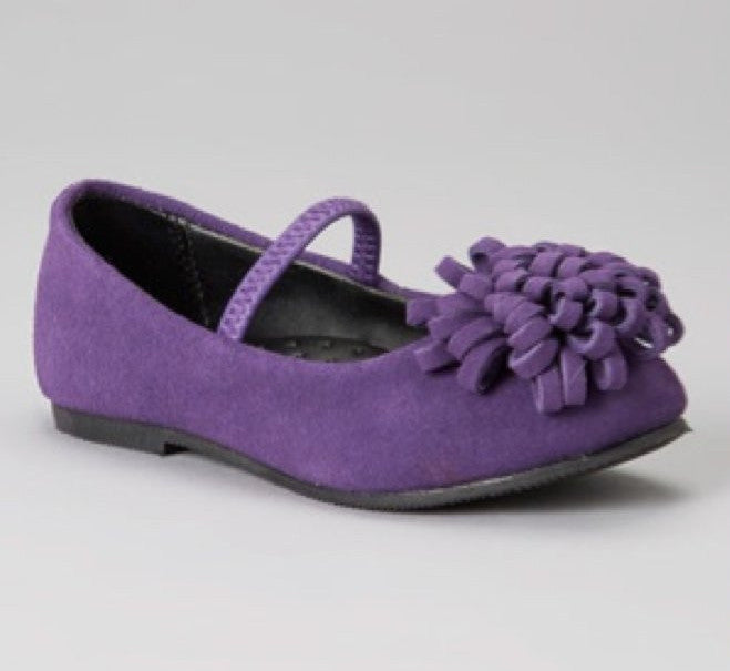 L'Amour Purple Pom Pom Shoes