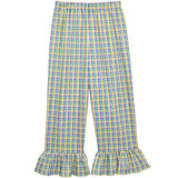 Mardi Gras Tri-Color Checks Ruffle Pants