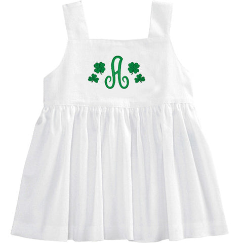 White Pique St. Patrick's Day Strappy Top