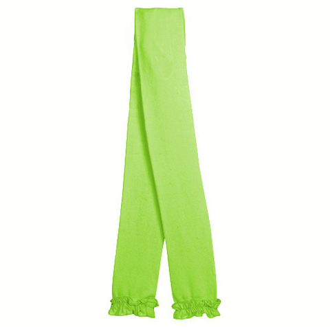 Jefferies Lime Ruffle Footless Tights