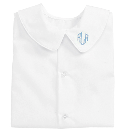 White Piped Short Sleeve Shirt