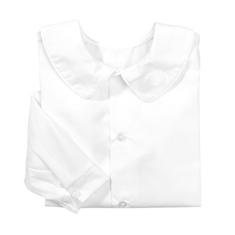 White Piped Long Sleeve Shirt