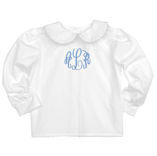 White Ric Rac Long Sleeve Blouse