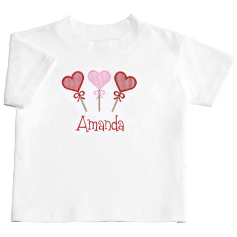 Applique Hearts Short Sleeve Tee