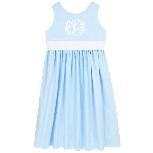Blue Pique Picnic Dress