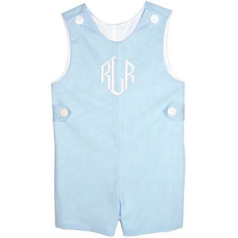 Blue Pique Boys Shortall
