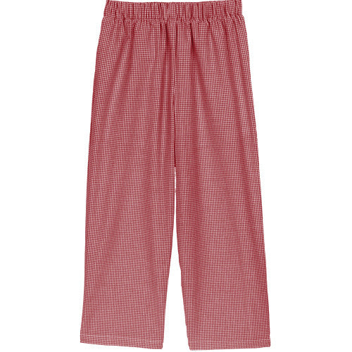 Red Classic Checks Pants