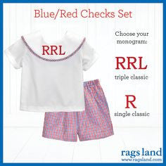 Blue/Red Checks Dress Short Set