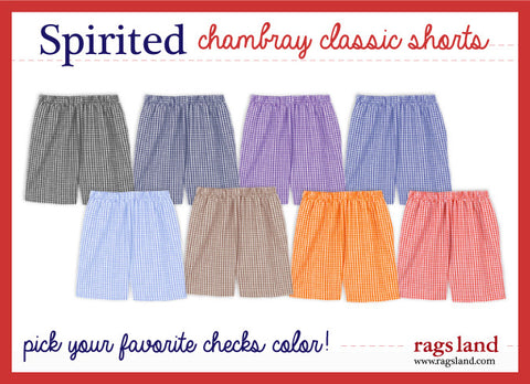 Chambray Checks Shorts