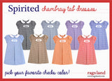 Chambray Checks Tab Dress