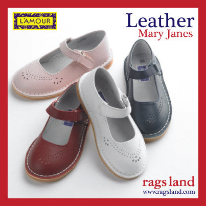 L'Amour Leather Mary Janes