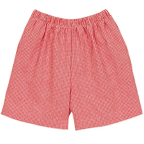 Red Classic Checks Shorts