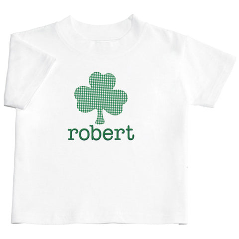 Applique Shamrock Boys Short Sleeve Tee