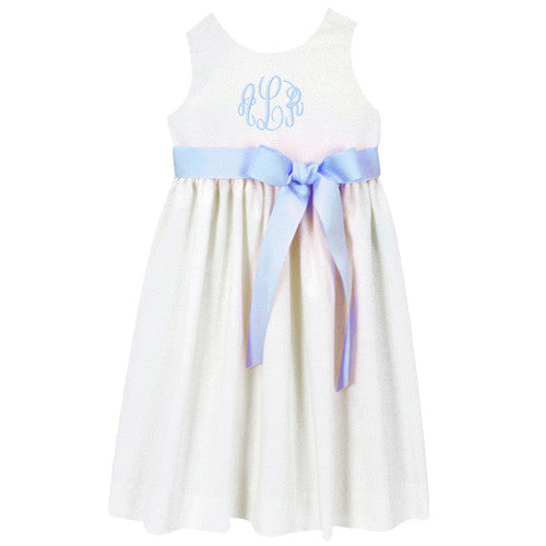 White Linen Picnic Dress