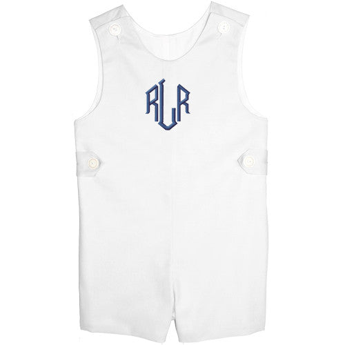 White Pique Boys Shortall