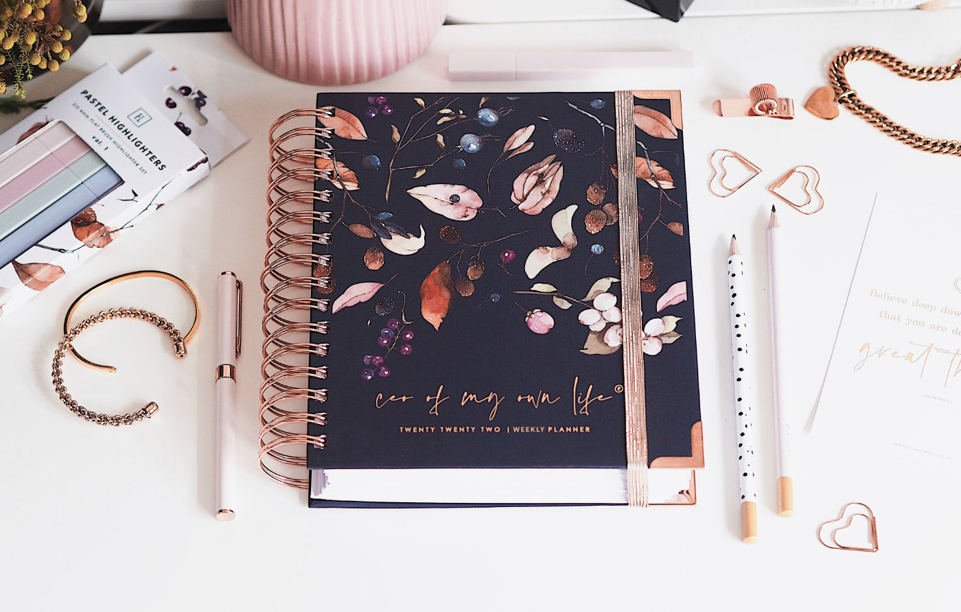 2022 Daily & Weekly Life Planners • CEO of My Own Life® • Ella Iconic Stationery